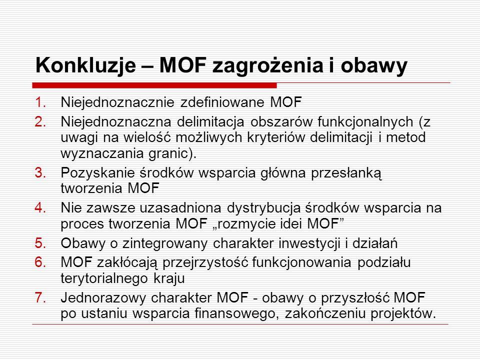 Konkluzje – MOF zagrożenia i obawy