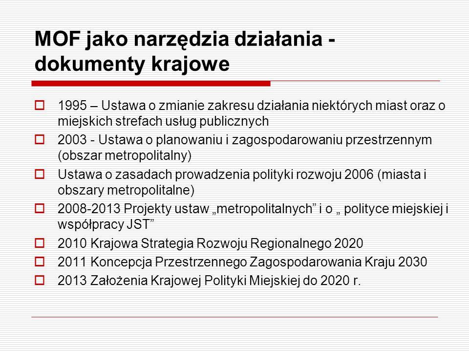 MOF jako narzędzia działania - dokumenty krajowe