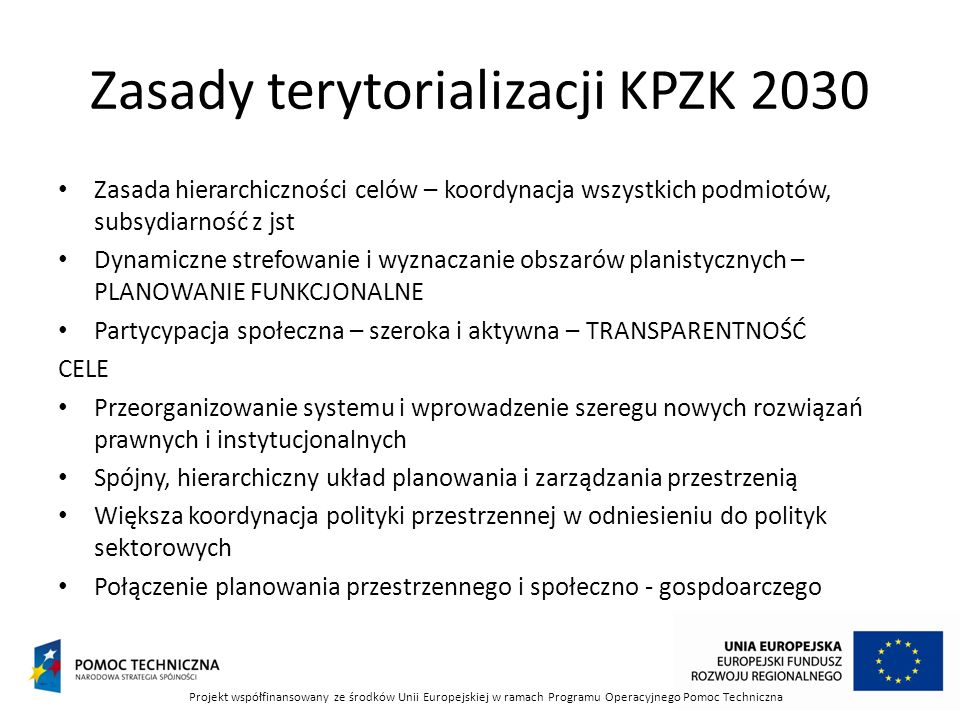 Zasady terytorializacji KPZK 2030