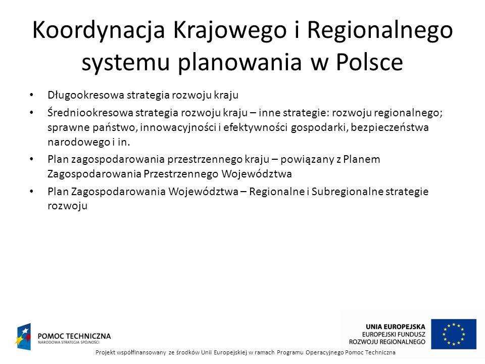 Koordynacja Krajowego i Regionalnego systemu planowania w Polsce