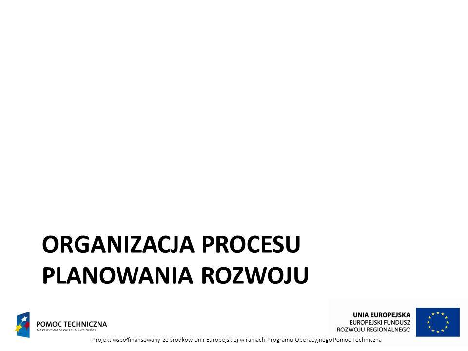 Organizacja procesu planowania rozwoju