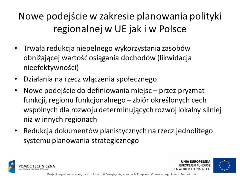 Nowe podejście w zakresie planowania polityki regionalnej w UE jak i w Polsce
