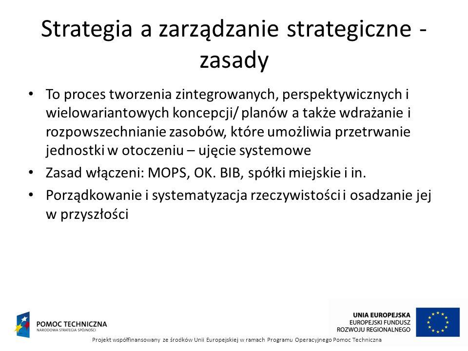 Strategia a zarządzanie strategiczne -zasady