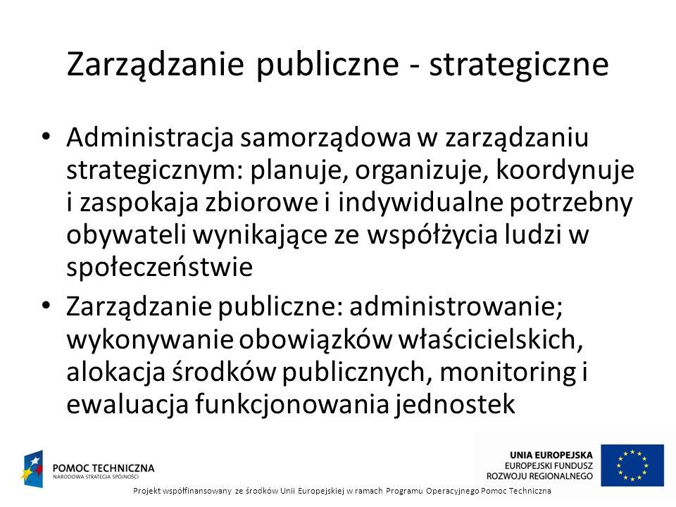 Zarządzanie publiczne - strategiczne