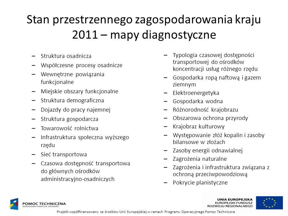 Stan przestrzennego zagospodarowania kraju 2011 – mapy diagnostyczne