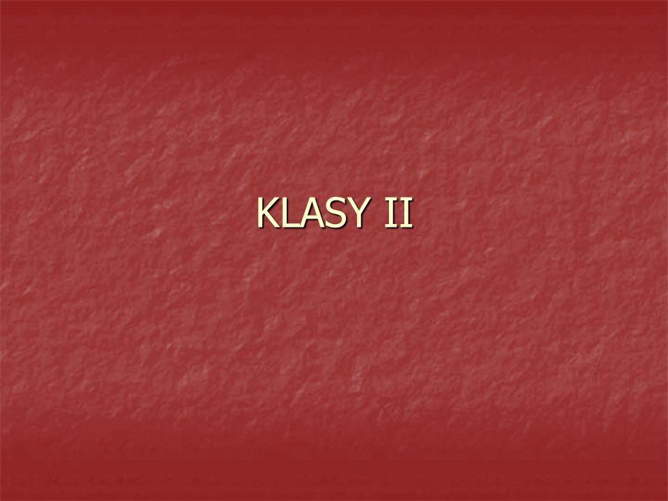 KLASY II