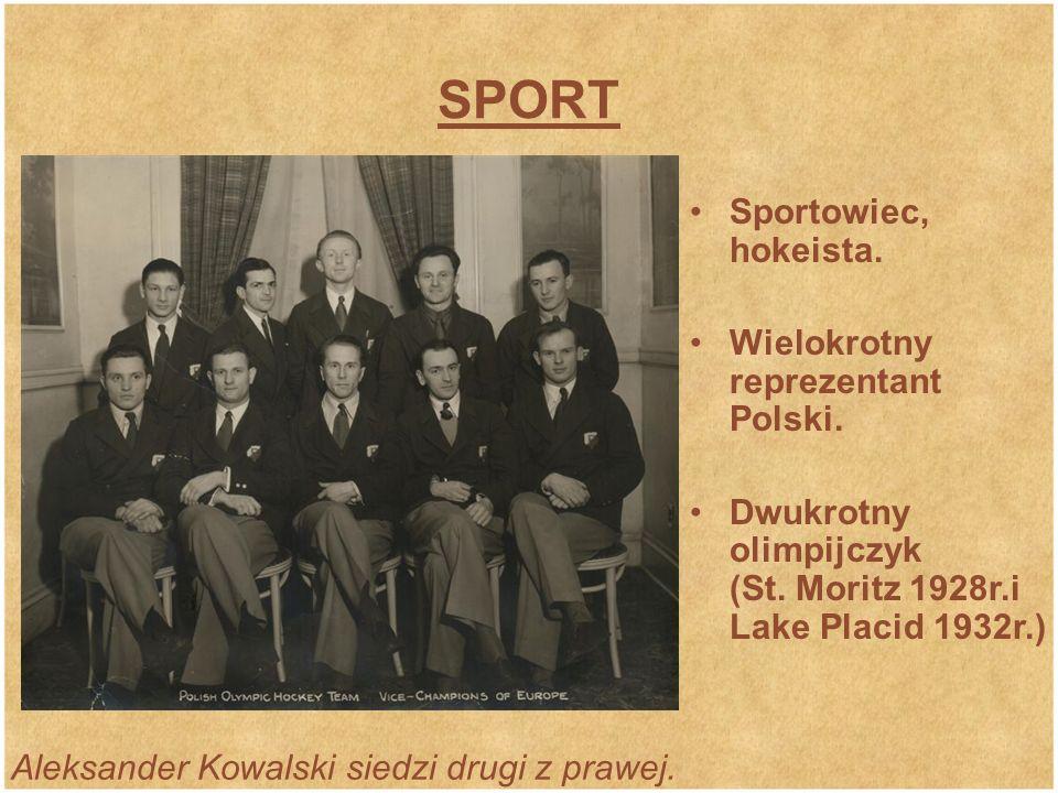 SPORT Sportowiec, hokeista. Wielokrotny reprezentant Polski.