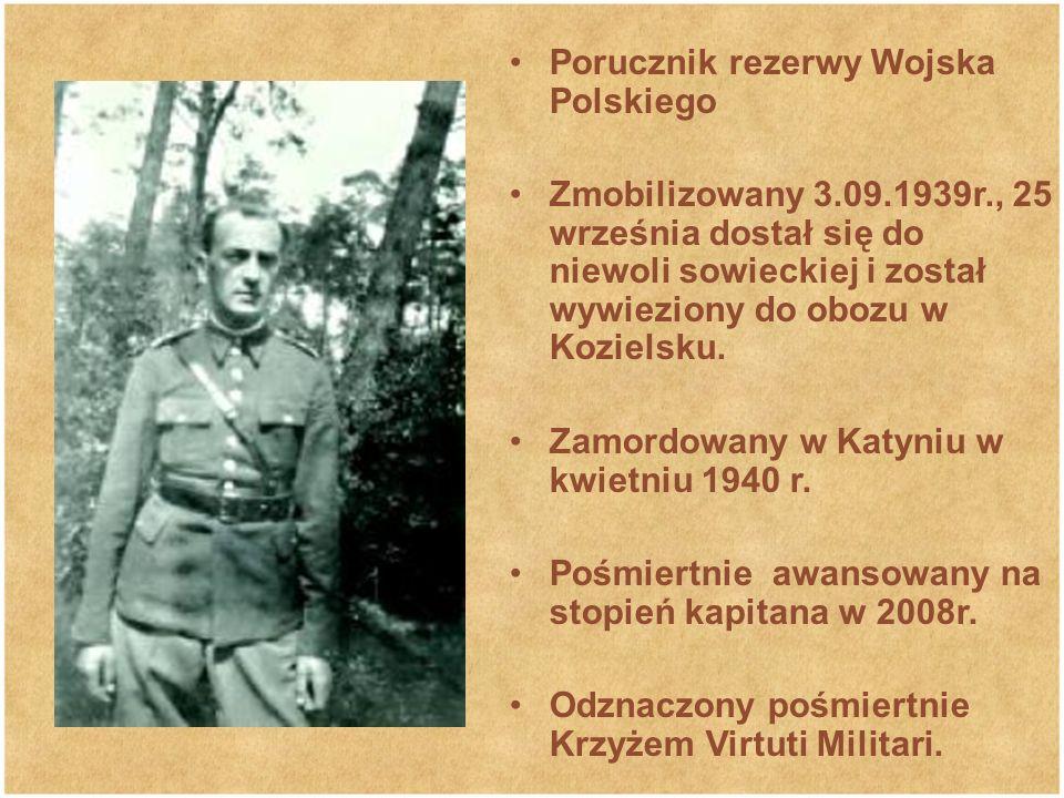Porucznik rezerwy Wojska Polskiego