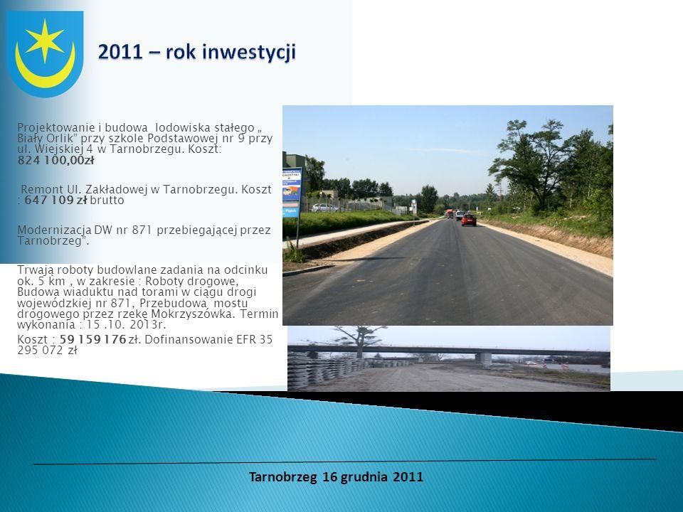 2011 – rok inwestycji Tarnobrzeg 16 grudnia 2011