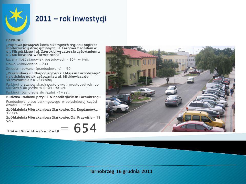 2011 – rok inwestycji Tarnobrzeg 16 grudnia 2011 PARKINGI