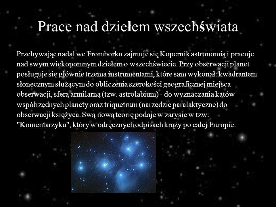 Prace nad dziełem wszechświata