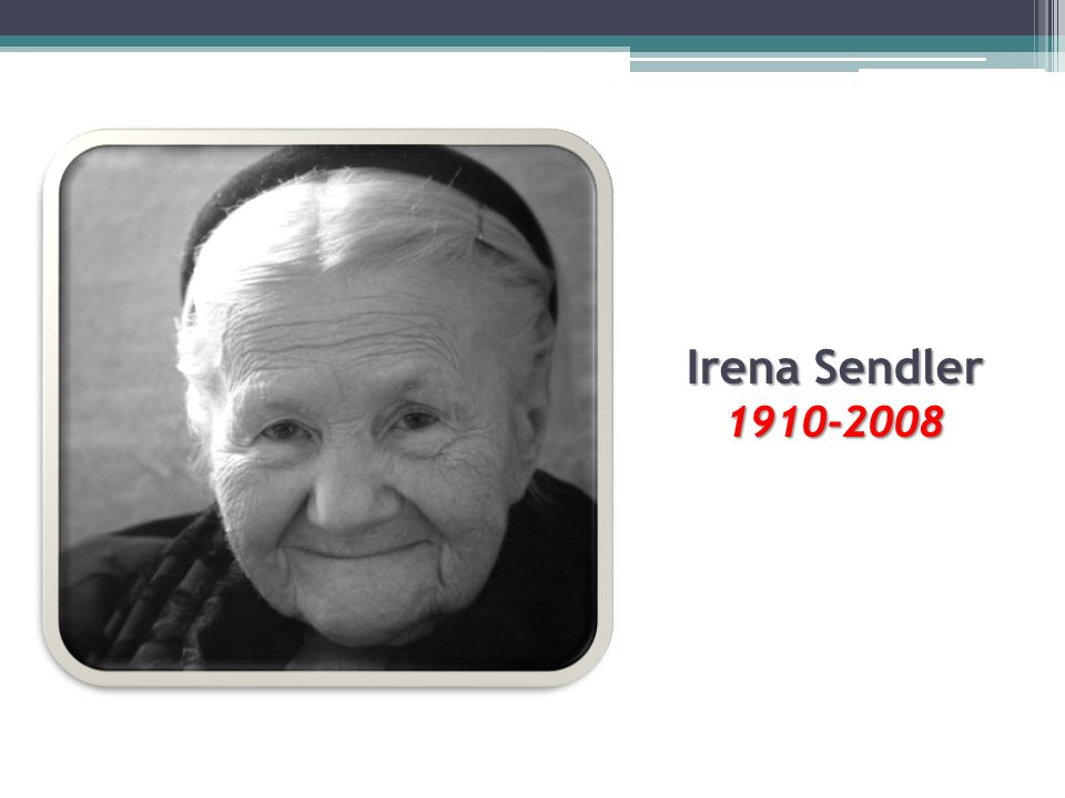essay on irena sendler The bravest – story of irena sendler sendler and her friend irena schultz obtained the papers of sanitary division irena sendler was a humble person.