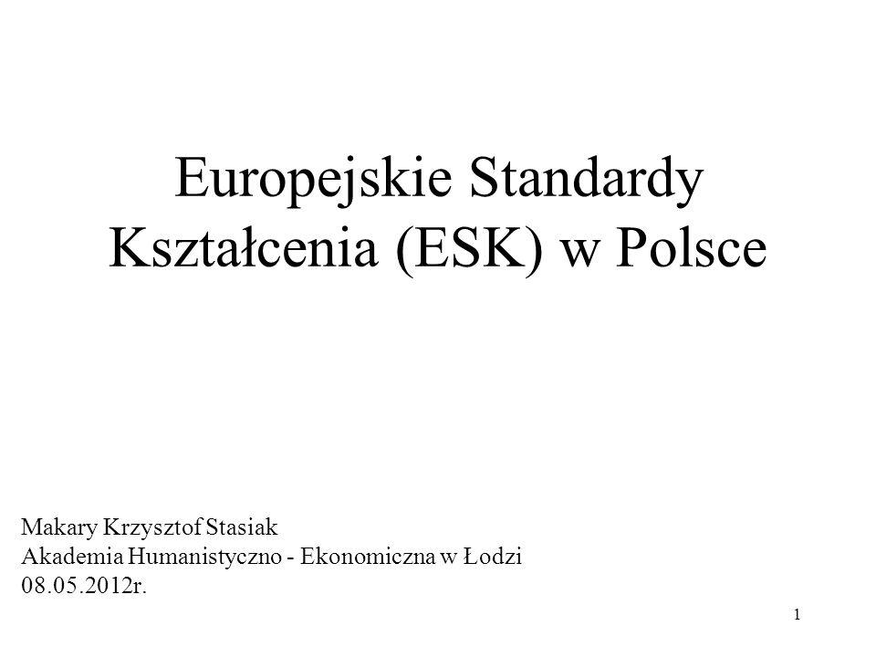 Europejskie Standardy Kształcenia (ESK) w Polsce