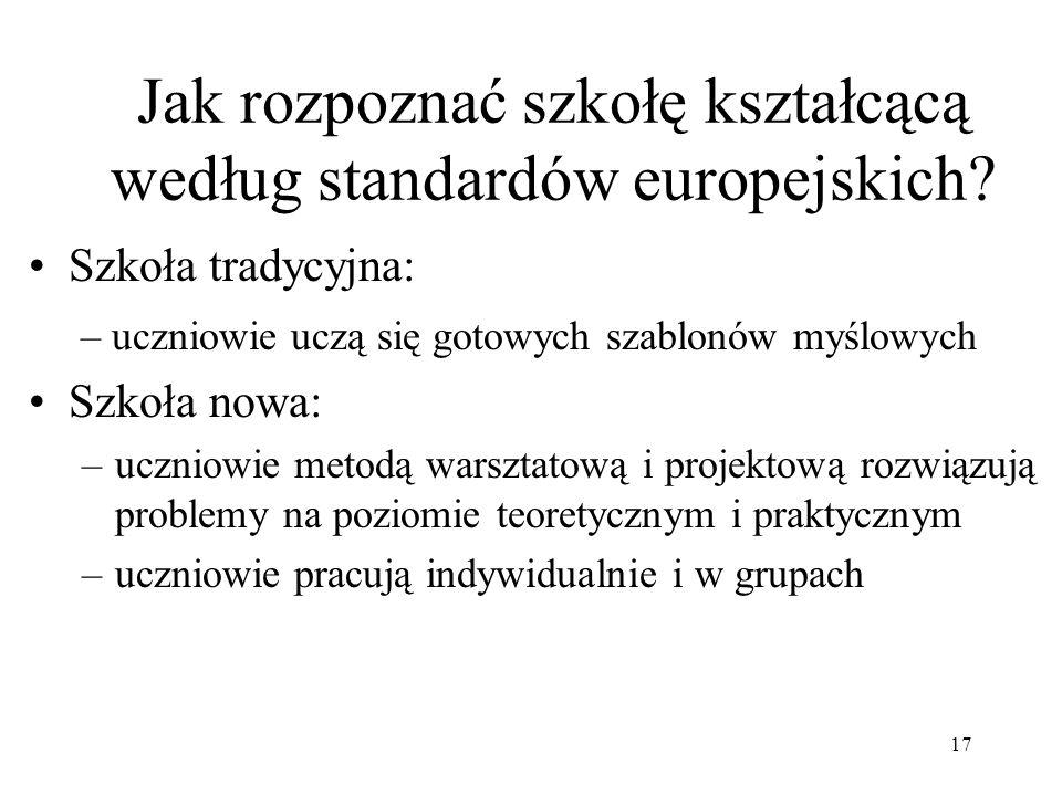 Jak rozpoznać szkołę kształcącą według standardów europejskich