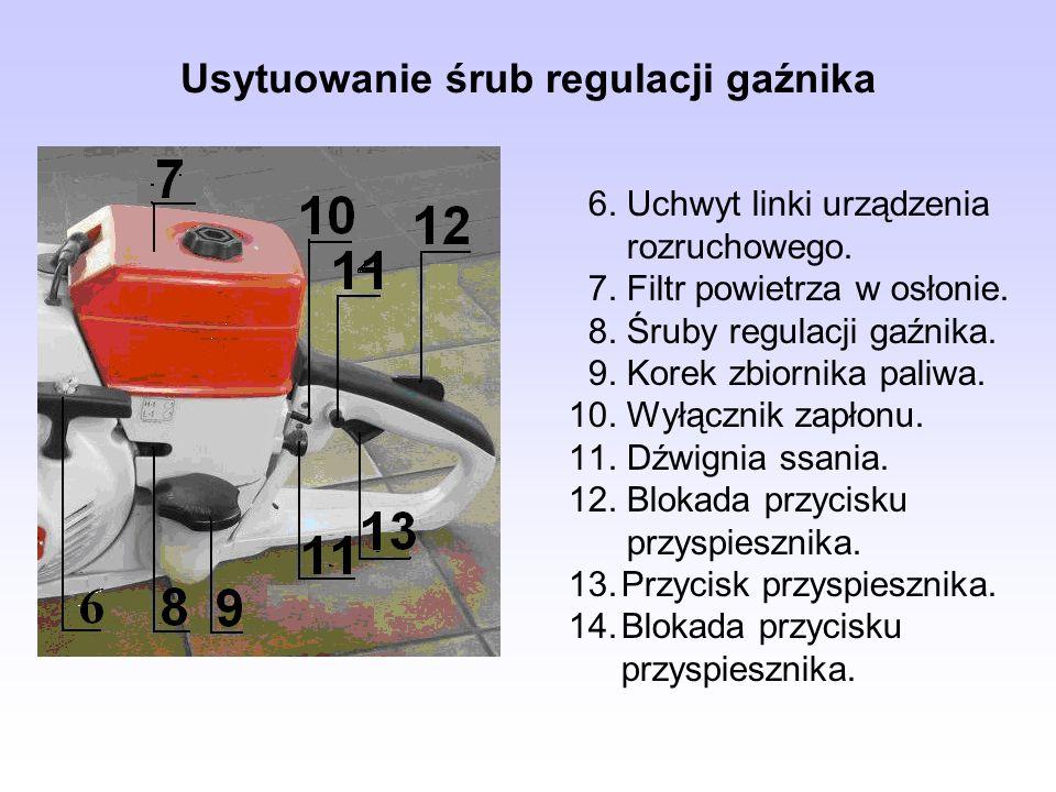 Usytuowanie śrub regulacji gaźnika
