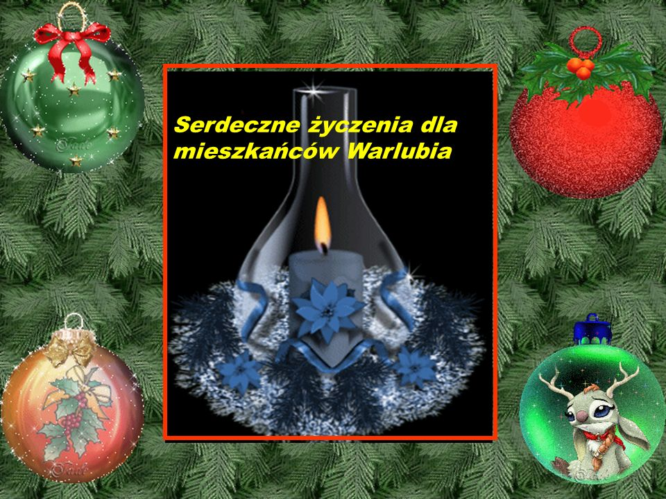 Serdeczne życzenia dla mieszkańców Warlubia !
