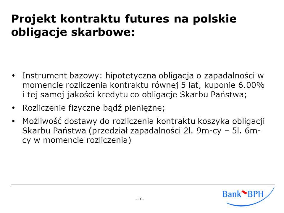 Projekt kontraktu futures na polskie obligacje skarbowe: