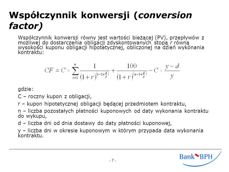 Współczynnik konwersji (conversion factor)
