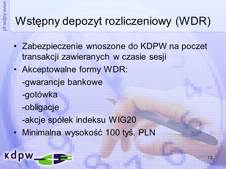 Wstępny depozyt rozliczeniowy (WDR)