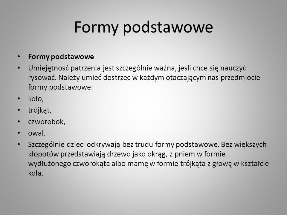 Formy podstawowe Formy podstawowe
