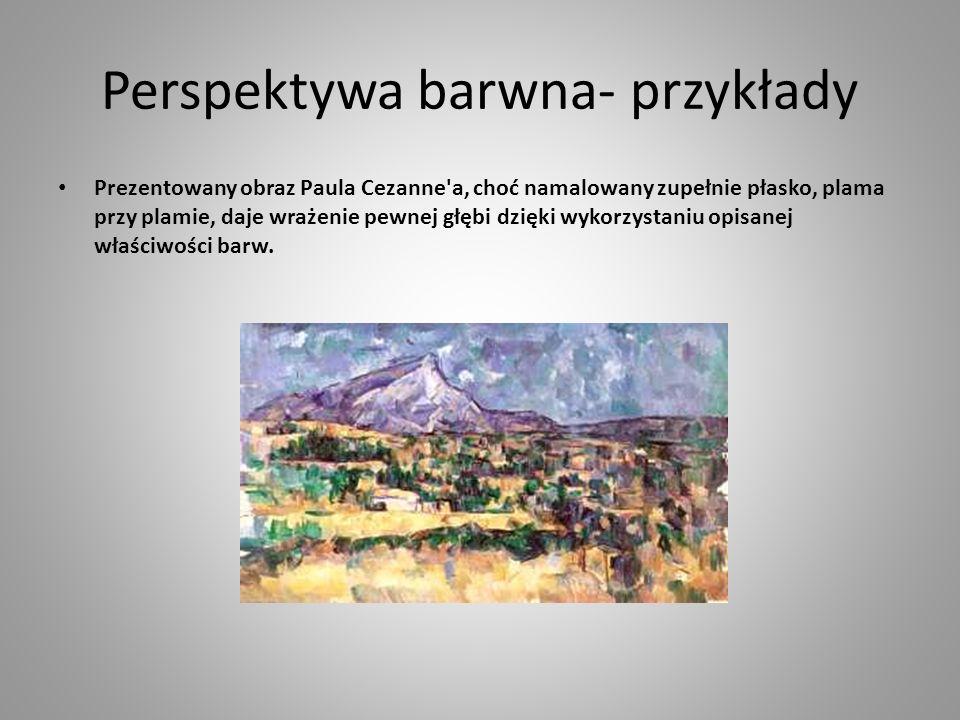 Perspektywa barwna- przykłady
