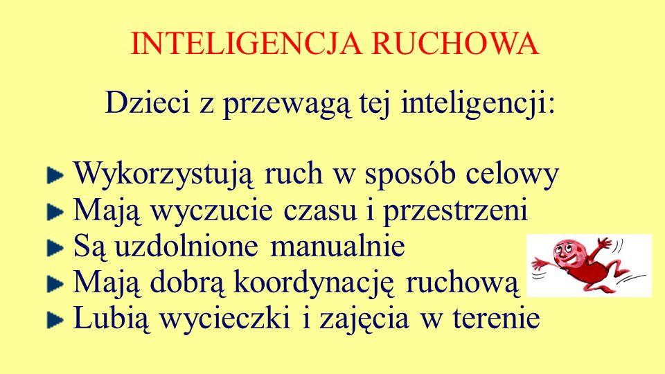 Dzieci z przewagą tej inteligencji: