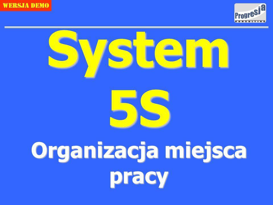 System 5S Organizacja miejsca pracy