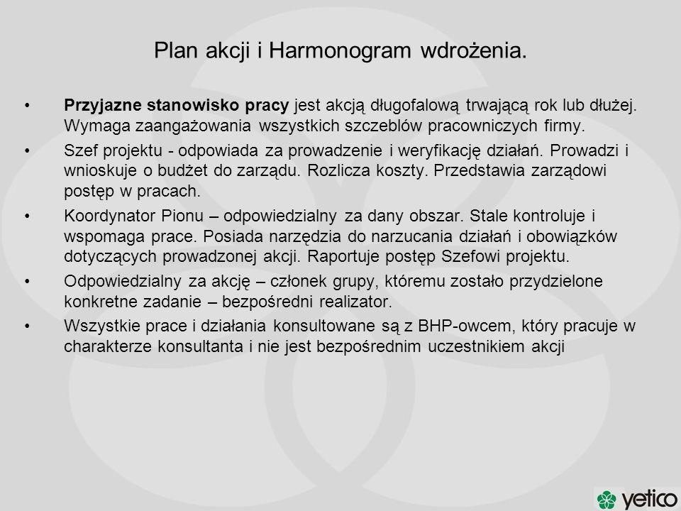 Plan akcji i Harmonogram wdrożenia.