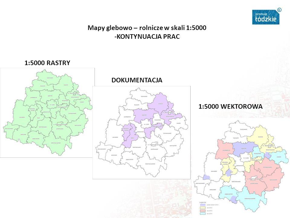 Mapy glebowo – rolnicze w skali 1:5000