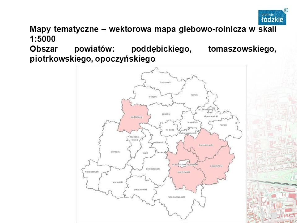 Mapy tematyczne – wektorowa mapa glebowo-rolnicza w skali 1:5000
