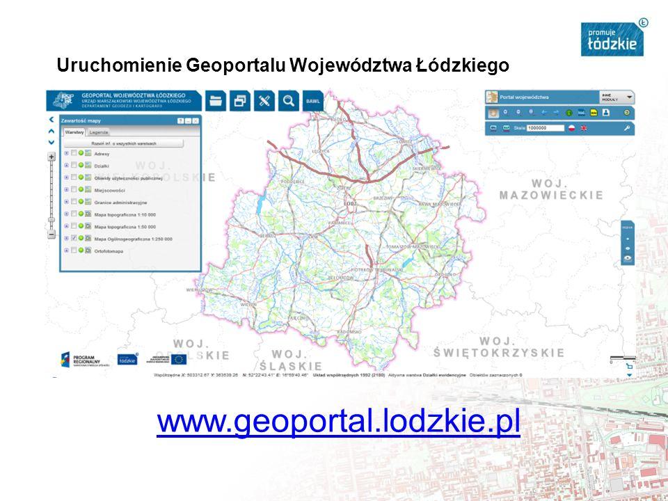 Uruchomienie Geoportalu Województwa Łódzkiego