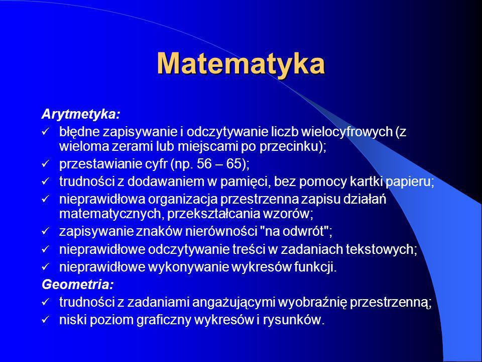 Matematyka Arytmetyka: