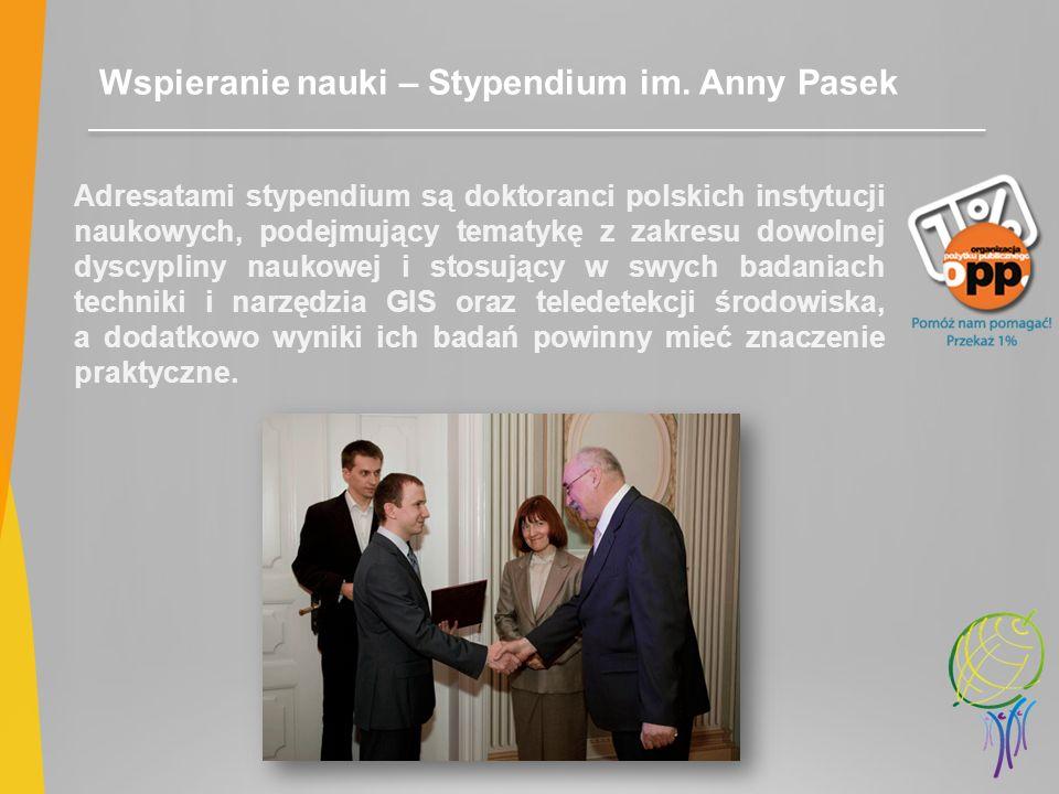 Wspieranie nauki – Stypendium im. Anny Pasek