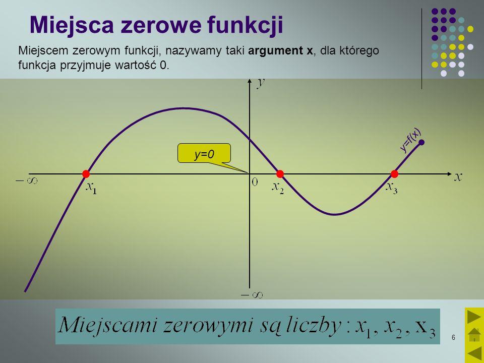 Miejsca zerowe funkcji