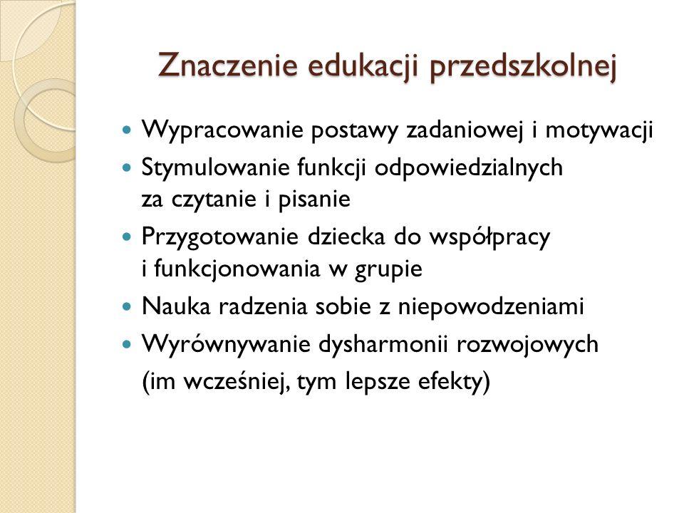 Znaczenie edukacji przedszkolnej