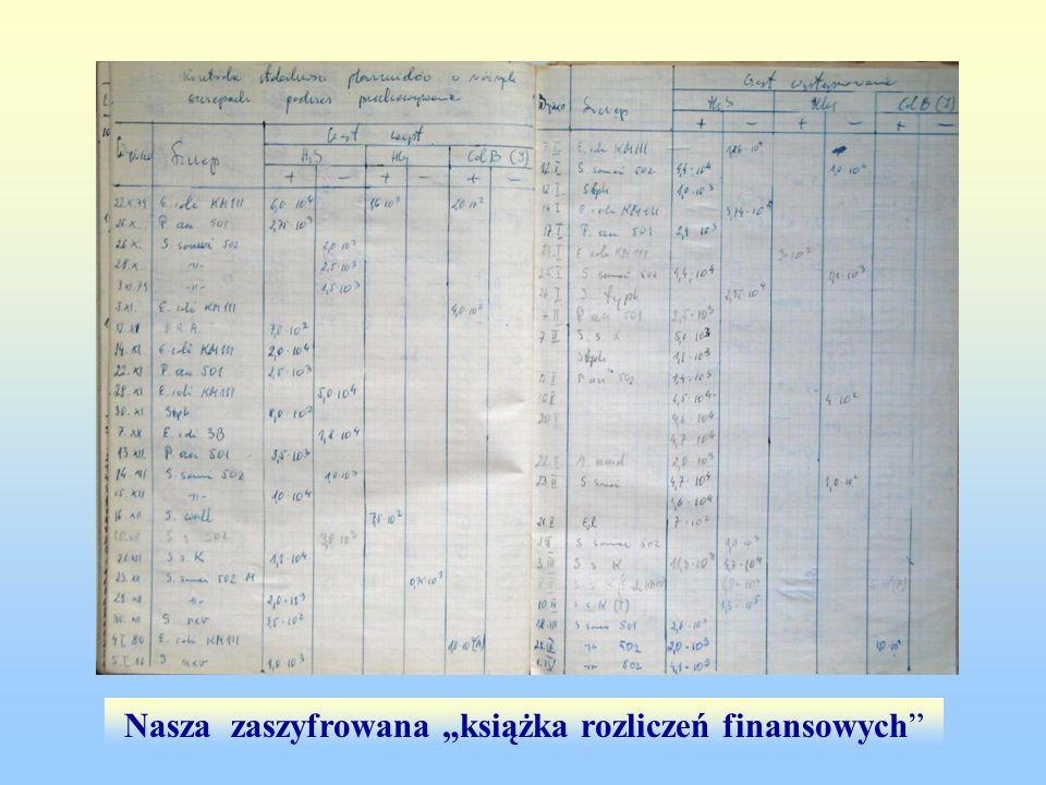 """Nasza zaszyfrowana """"książka rozliczeń finansowych"""