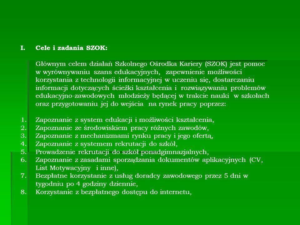 Cele i zadania SZOK: