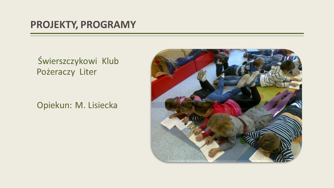 PROJEKTY, PROGRAMY Opiekun: M. Lisiecka