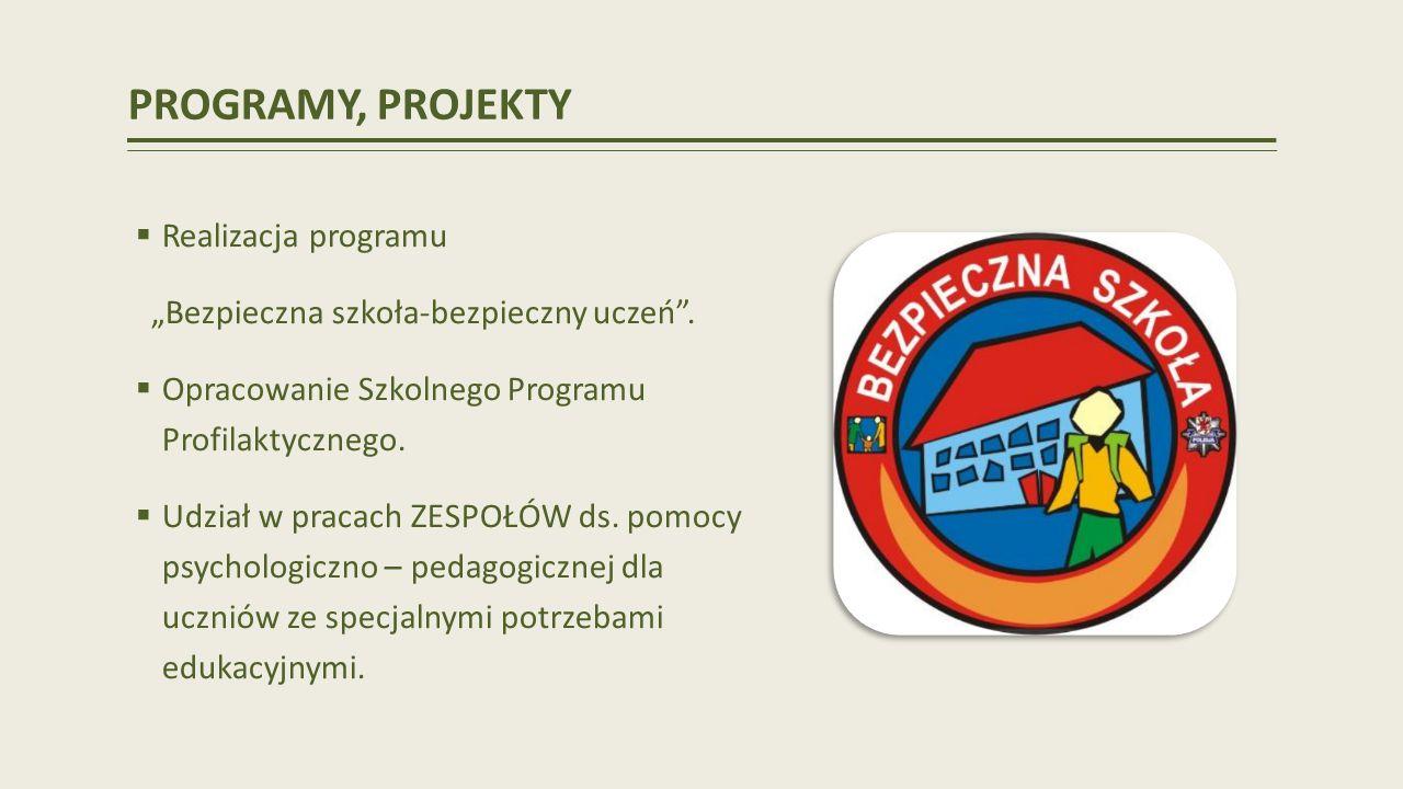 PROGRAMY, PROJEKTY Realizacja programu