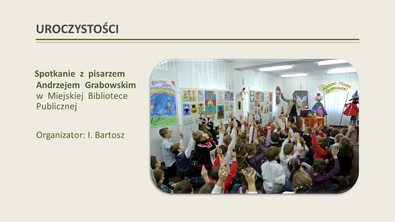 UROCZYSTOŚCI Spotkanie z pisarzem Andrzejem Grabowskim w Miejskiej Bibliotece Publicznej.