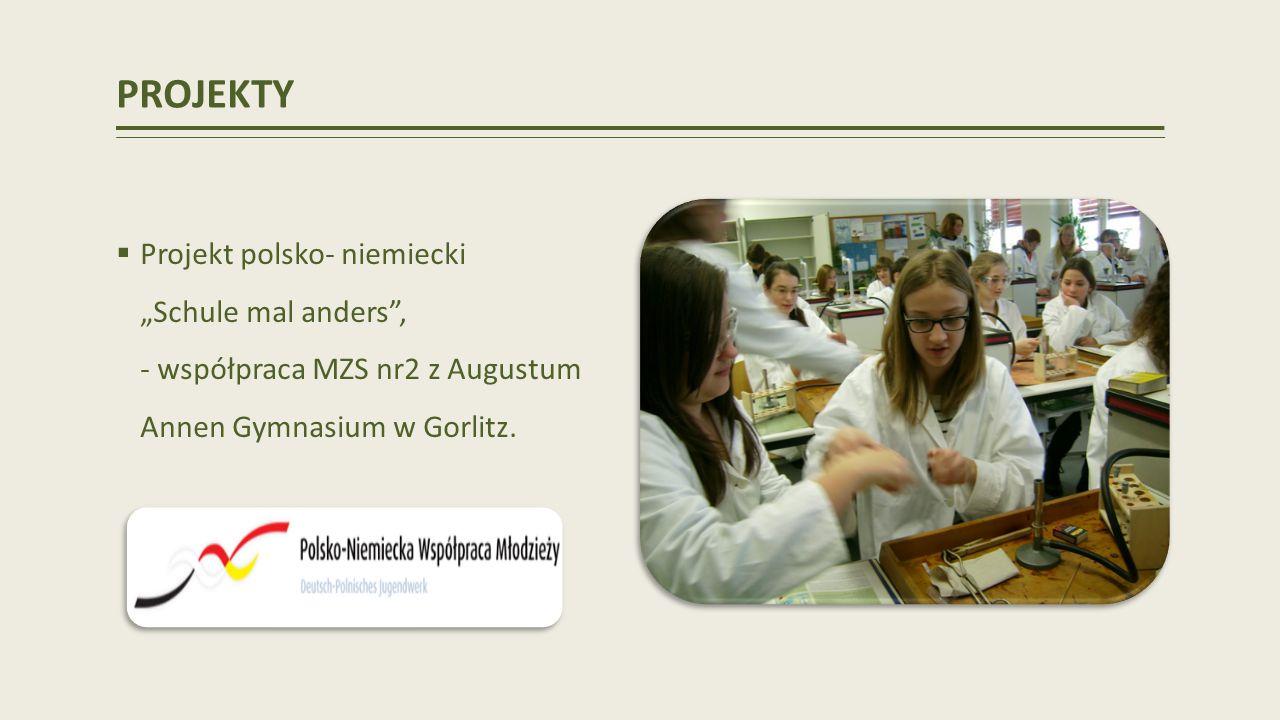 """PROJEKTY Projekt polsko- niemiecki """"Schule mal anders , - współpraca MZS nr2 z Augustum Annen Gymnasium w Gorlitz."""