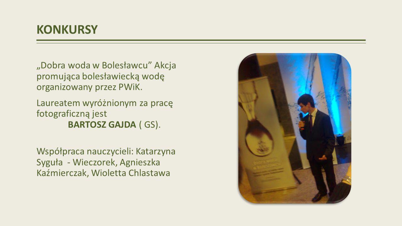 """KONKURSY """"Dobra woda w Bolesławcu Akcja promująca bolesławiecką wodę organizowany przez PWiK."""