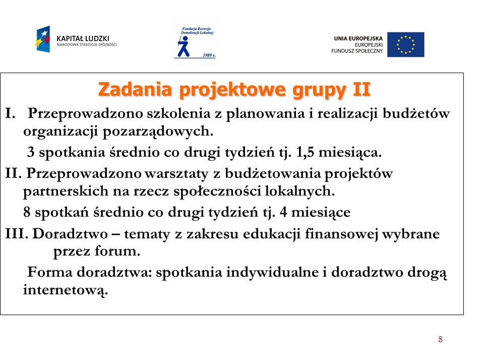 Zadania projektowe grupy II