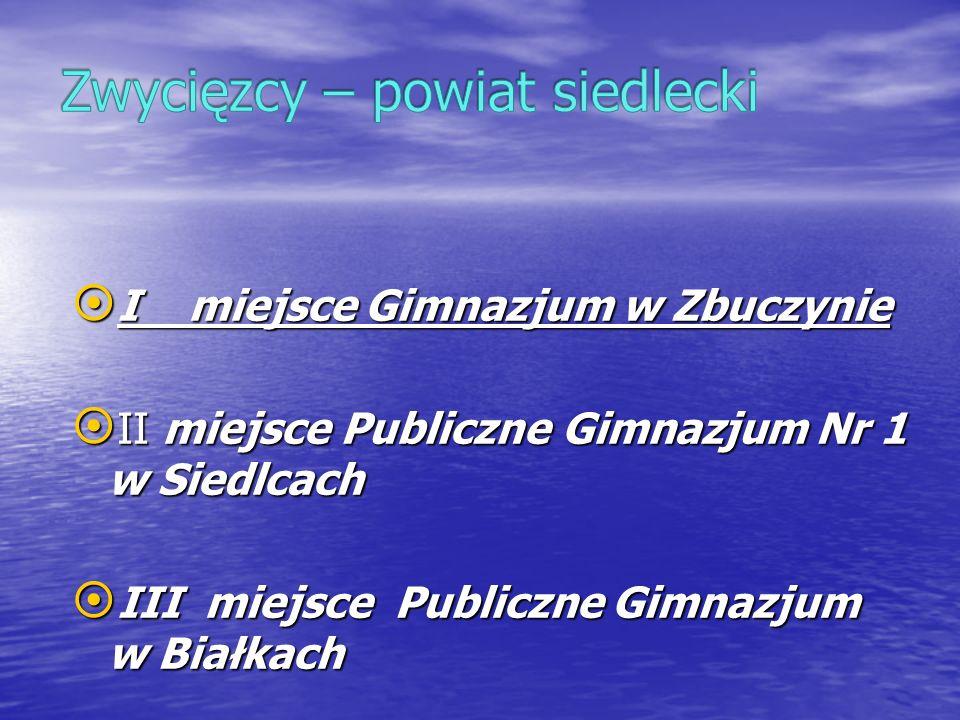 Zwycięzcy – powiat siedlecki