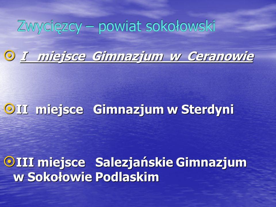 Zwycięzcy – powiat sokołowski