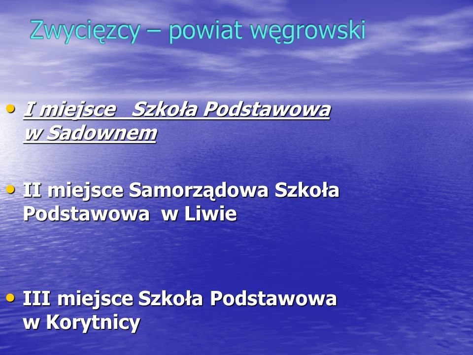 Zwycięzcy – powiat węgrowski