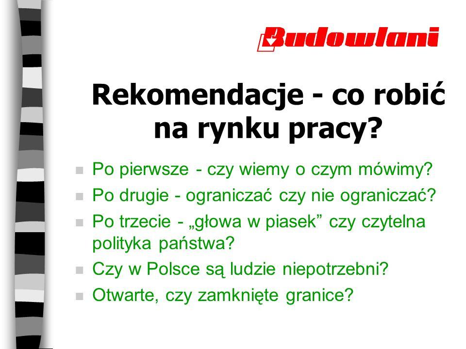 Rekomendacje - co robić na rynku pracy