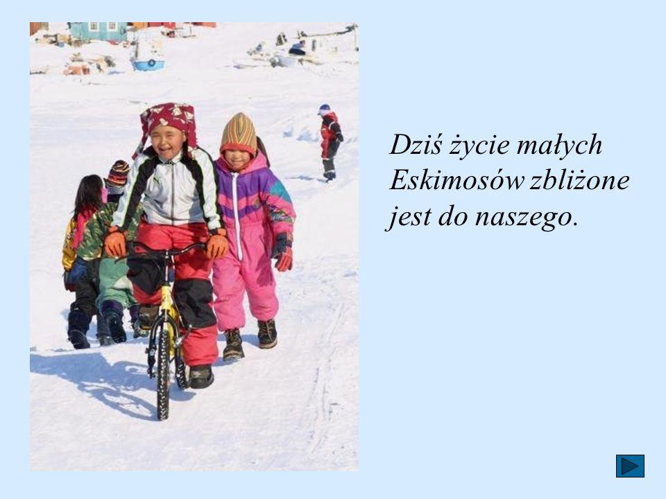 Dziś życie małych Eskimosów zbliżone jest do naszego.