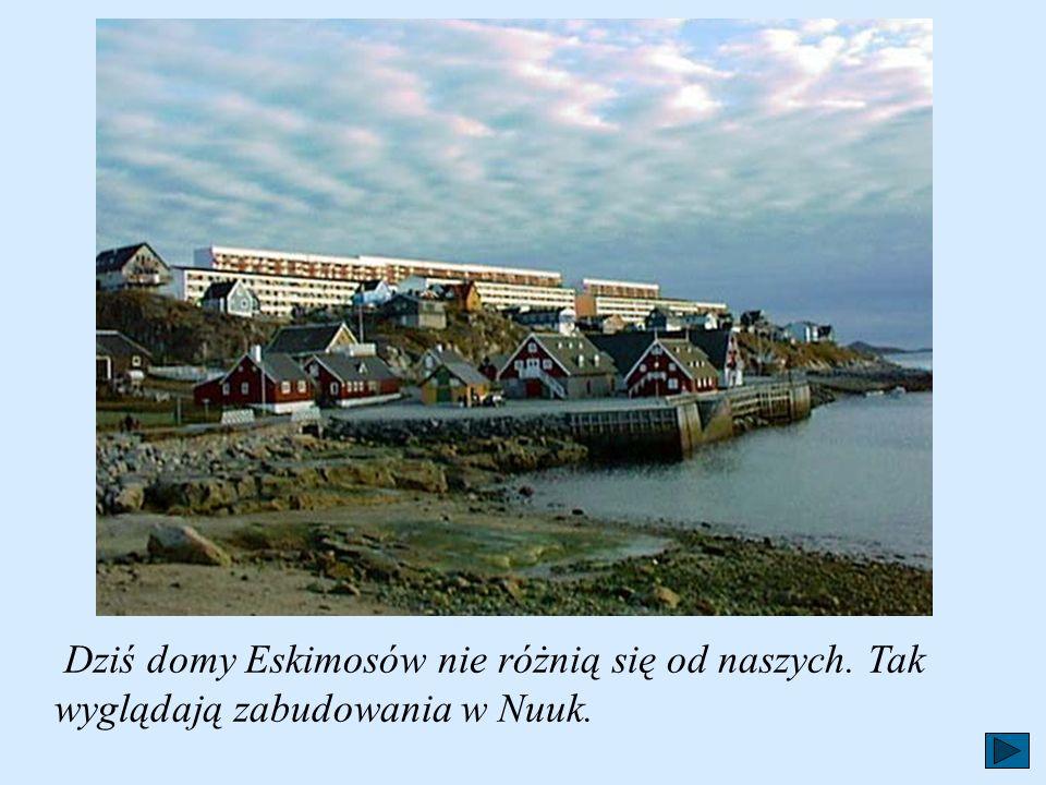 Dziś domy Eskimosów nie różnią się od naszych
