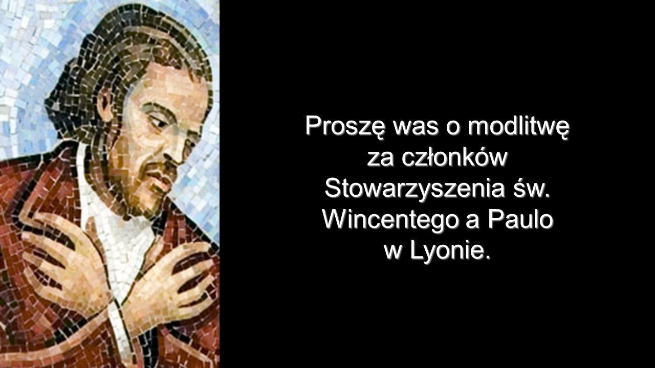 za członków Stowarzyszenia św. Wincentego a Paulo